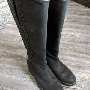 Ariat all leather suede tall boots new